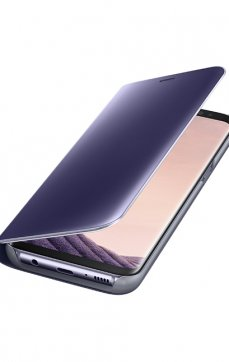 Dėklas Clear View Standing Cover Samsung G955 violetinis
