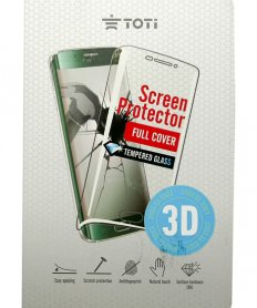 TEMPERED glass 3D screen protector full cover for Galaxy S6 Edge Black