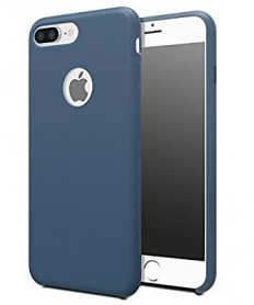 Liquid Silicone Back Cover for iPhone 7/8 Midnight Blue