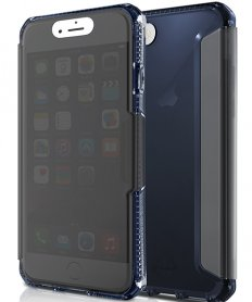 AntiShock Gel Folio case Spectra vision for iPhone 7 Blue Steel