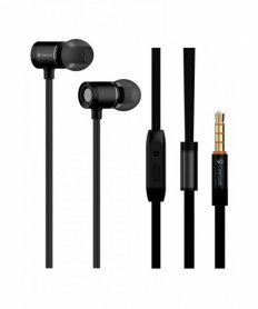 6S Earphones Metal bass Black