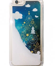 Christmas tree Liquid back cover for iPhone 5/5s (Christmas Edition)