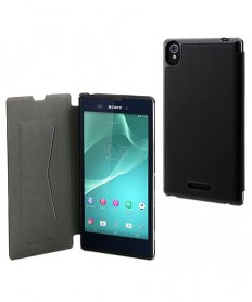 SESLI0121 Ultra Slim Folio Case for Sony Xperia T3 Black