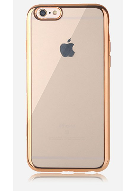 Mirror back cover iPhone 6/6S transparent Gold