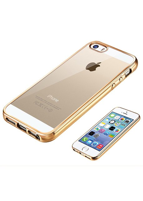 Mirror back cover iPhone SE/5/5S/5C transparent_Gold