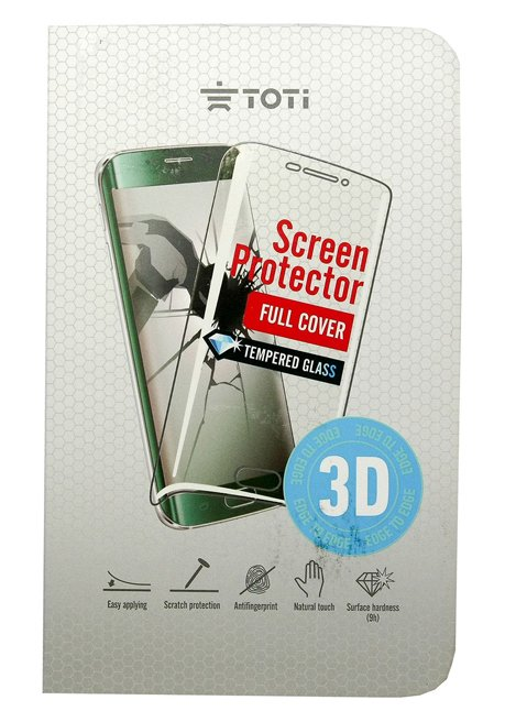 TEMPERED glass 3D screen protector full cover for Galaxy S6 Edge Gold