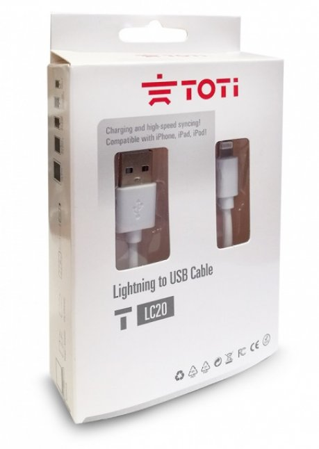 T-LC20 Lightning to USB cable for iPhone 5/6/7, 1 m White