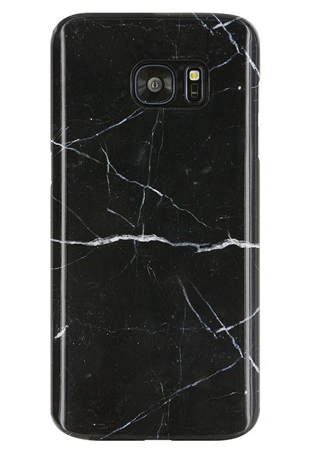 Back case for Galaxy S7 Edge Black Marble