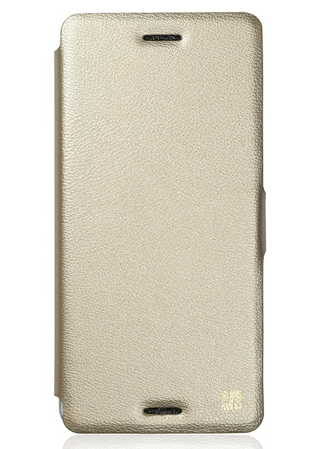 Slim Flip cover for Xperia X F5121 Gold