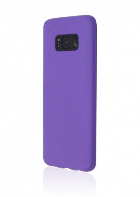 Carbon TPU Back Cover Galaxy S8 Violet