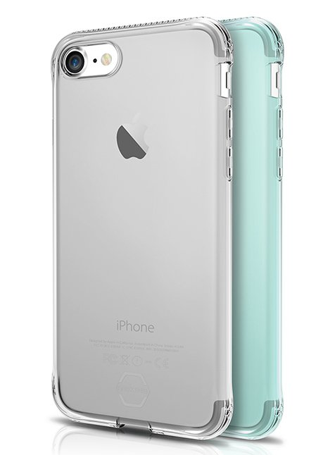 Protective Gel case Zero Gel 2 Pack for iPhone 7 Green/Silver