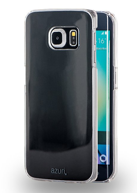 Azuri booklet ultra thin for Galaxy S6 Edge G925 with stand function Transparent