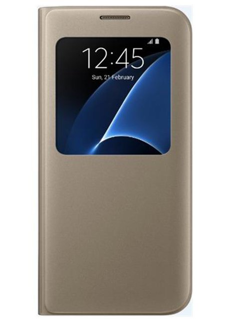 CG935PFEG S-view cover for Galaxy S7 Edge G935 Gold