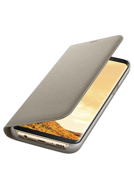 NG955PFE LED View Cover for Galaxy S8 Plus Gold