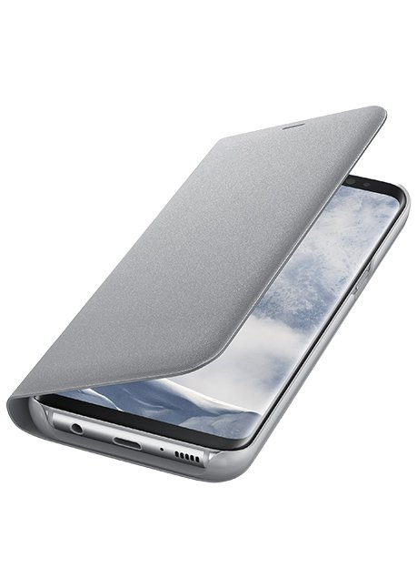 NG955PSE LED View Cover for Galaxy S8 Plus Silver
