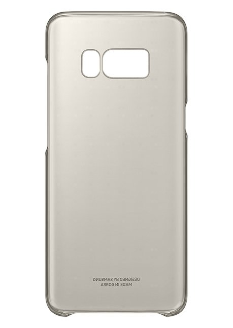QG950CFE Clear Cover for Galaxy S8 Gold