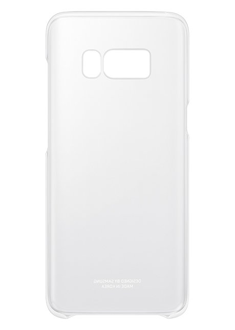 QG955CSE Clear Cover for Galaxy S8 Plus Silver