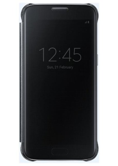 ZG930CBEG Clear View Cover for Galaxy S7 G930 Black