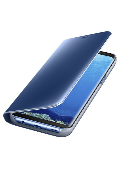 ZG955CLE Clear View Standing Cover for Galaxy S8 Plus Blue