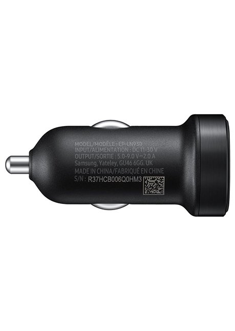 LN930BBEG Car fast charger Mini microUSB 2A 15W 1.5 m Black
