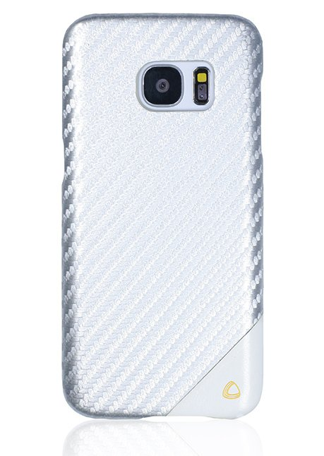 Carbon Back cover for Galaxy S7 Edge Silver