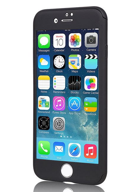 MP-8805 360° Protective Case with screen Protector for iPhone 6/6s Black