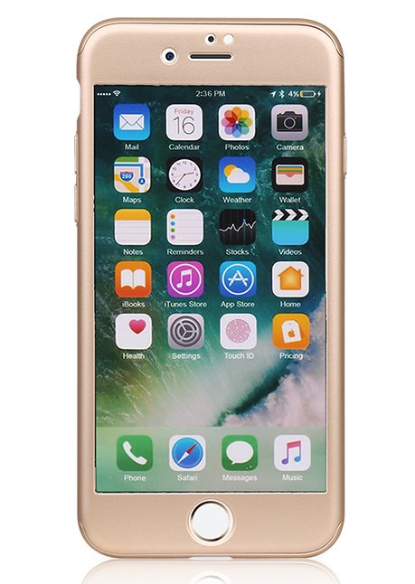 MP-8805 360° Protective Case with screen Protector for iPhone 7 Gold