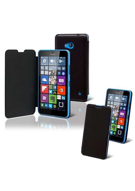 MULIT0006 Smooth Lite Folio Case for Lumia 640 Black