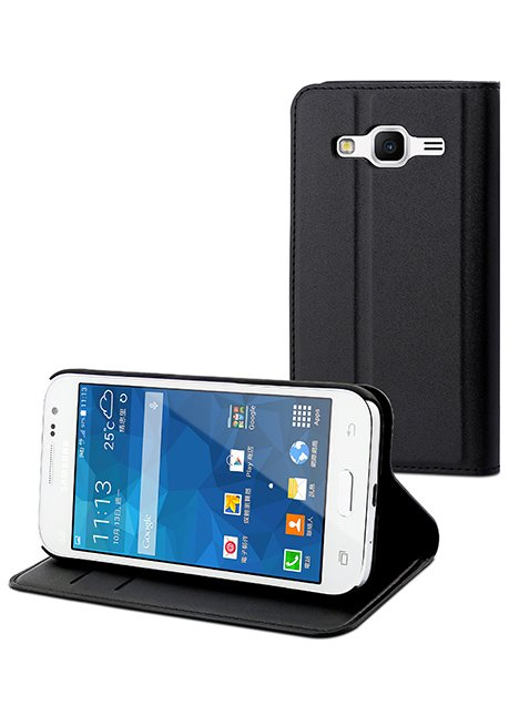 MUSNS0166 Flip case with 3 card slots for Galaxy Core Prime, Black
