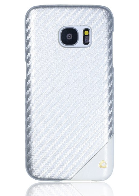 Carbon Back cover for Samsung Galaxy S7 Silver