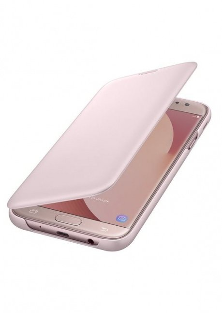 WJ730CPEG Flip cover for Galaxy J7 (2017) J730 Pink