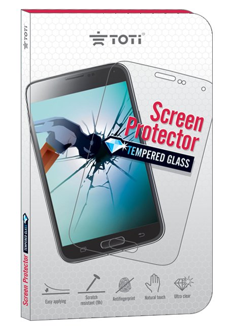 TEMPERED glass screen protector for Galaxy A5 (2016) A510 white frame